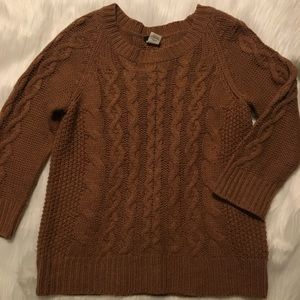 J Crew Cableknit Sweater Size M